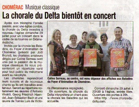 Le Dauphiné Libéré - 13 juillet 2012