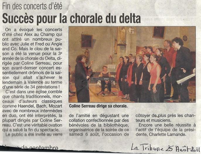 La Tribune de Montélimar - 25 août 2011