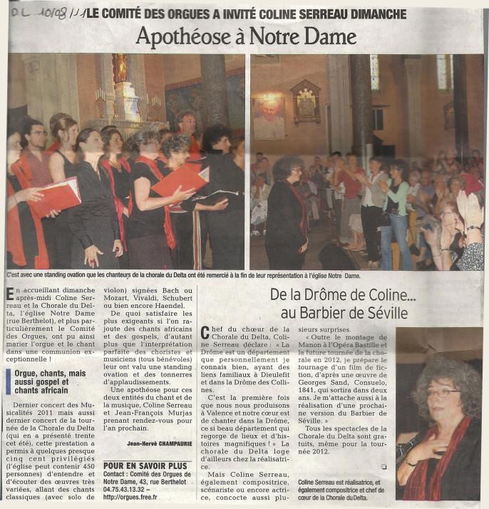 Le Dauphiné Libéré - 10 août 2011